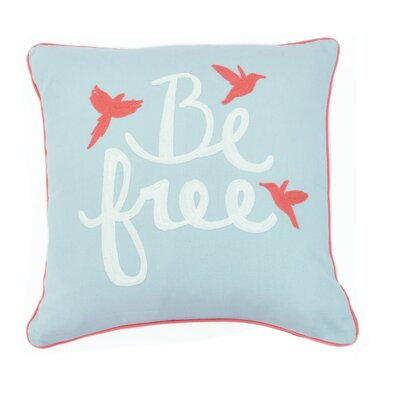 Be Free Cotton Throw Pillow