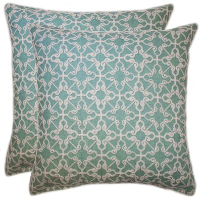 Celtic Embroidered Chain Stitch Throw Pillow Color: Turquoise