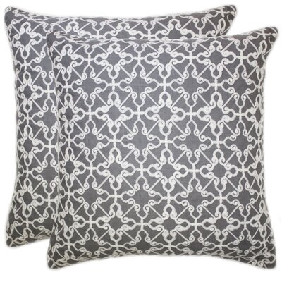Celtic Embroidered Chain Stitch Throw Pillow Color: Gray