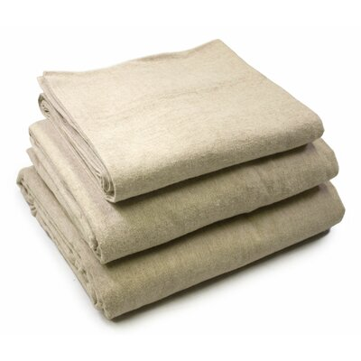 Bowen Yarn Dyed 200 Thread Count 100% Cotton 4 Piece Sheet Set Size: Full, Color: Chambray