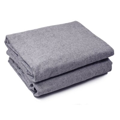 Lauryn Yarn Dyed 200 Thread Count 3 Piece 100% Cotton Sheet Set Color: Light Gray