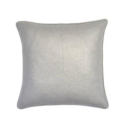 Amaker Metallic Throw Pillow Color: Silver