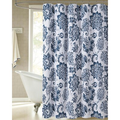 Niantic Floral Paisley 100% Cotton Shower Curtain