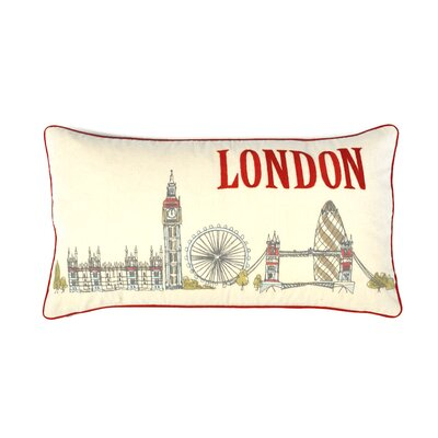 Demers London Sketch 100% Cotton Lumbar Pillow