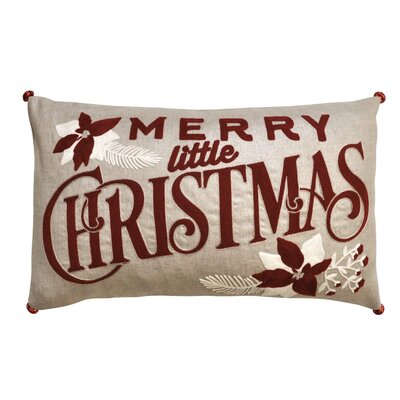 Nickerson Merry Little Christmas Lumbar Pillow