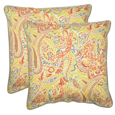 Demmer Decorative 100% Cotton Throw Pillow Color: Coral