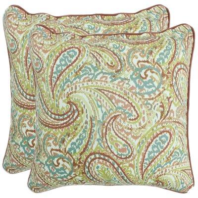 Ranson Decorative 100% Cotton Throw Pillow Color: Coral