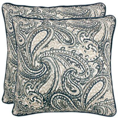 Demott Decorative 100% Cotton Throw Pillow Color: Navy