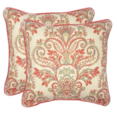 Elsner Decorative 100% Cotton Throw Pillow Color: Coral