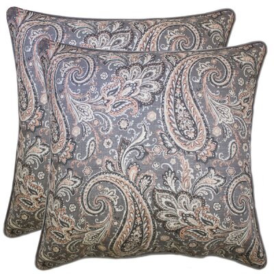 Elston Decorative 100% Cotton Throw Pillow Color: Gray