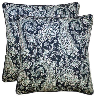 Elston Decorative 100% Cotton Throw Pillow Color: Navy