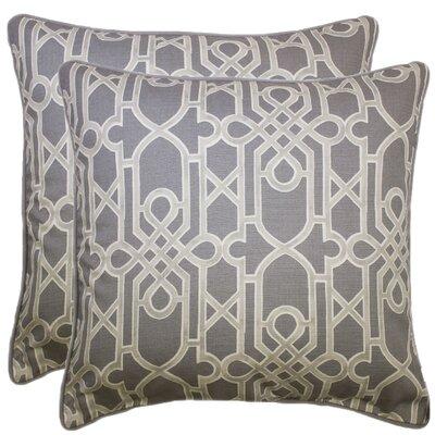 Elvaston Decorative 100% Cotton Throw Pillow Color: Gray