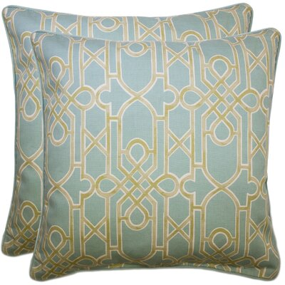 Elvaston Decorative 100% Cotton Throw Pillow Color: Seafoam