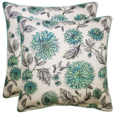 Demps 100% Cotton Throw Pillow Color: Seafoam