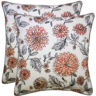 Demps 100% Cotton Throw Pillow Color: Blue