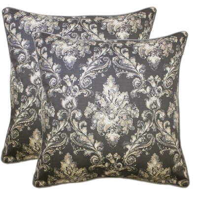 Allentown 100% Cotton Throw Pillow Color: Gray