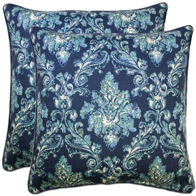 Allentown 100% Cotton Throw Pillow Color: Navy