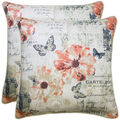 Caley 100% Cotton Throw Pillow Color: Coral
