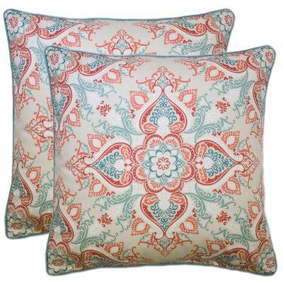 Donatien 100% Cotton Throw Pillow Color: Coral