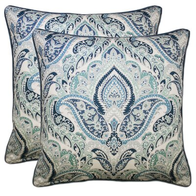 Noland 100% Cotton Throw Pillow Color: Aqua