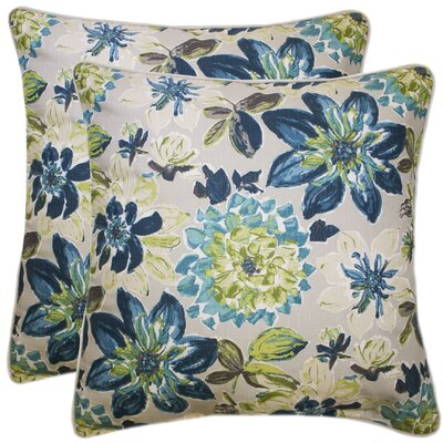 Knudsen 100% Cotton Throw Pillow Color: Navy