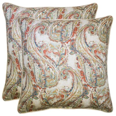 Elzey 100% Cotton Throw Pillow Color: Multi