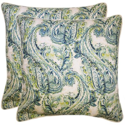 Elzey 100% Cotton Throw Pillow Color: Seafoam