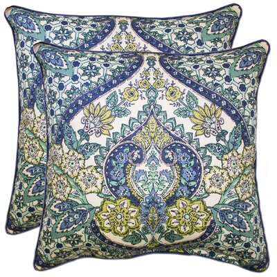 Dor 100% Cotton Throw Pillow Color: Navy