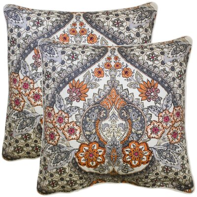Dor 100% Cotton Throw Pillow Color: Coral