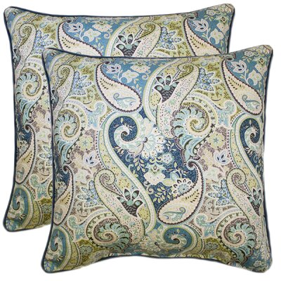 Dore 100% Cotton Throw Pillow Color: Seafoam