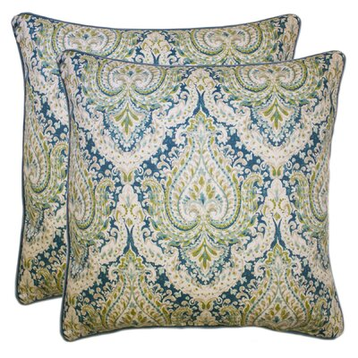 Dorene 100% Cotton Throw Pillow Color: Aqua