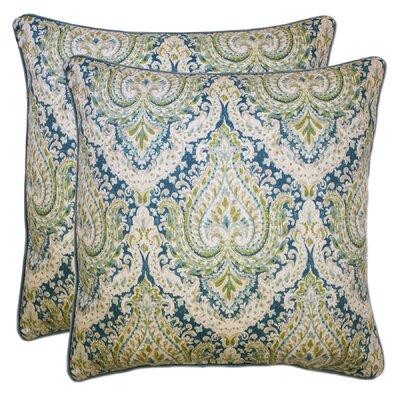 Dorene 100% Cotton Throw Pillow Color: Aqua