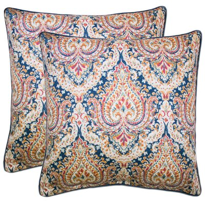 Dorene 100% Cotton Throw Pillow Color: Navy