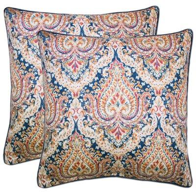 Dorene 100% Cotton Throw Pillow Color: Navy