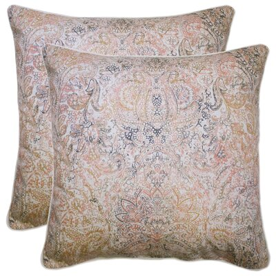 Dorine 100% Cotton Throw Pillow Color: Coral