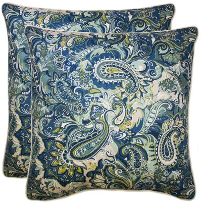 Embrey 100% Cotton Throw Pillow Color: Navy
