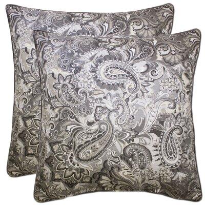 Embrey 100% Cotton Throw Pillow Color: Gray