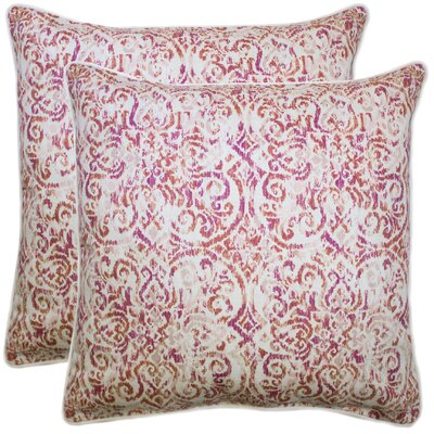 Williamsburg Cotton Throw Pillow Color: Coral