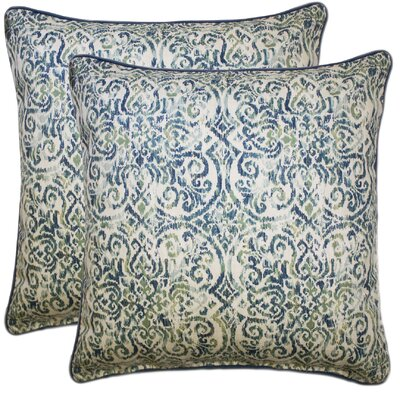 Williamsburg Cotton Throw Pillow Color: Blue