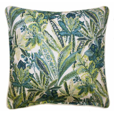 Soloman Tropical Cotton Throw Pillow