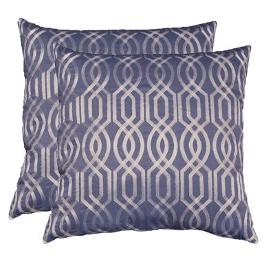 Allenville Chainstitch Embroidered Throw Pillow Color: Charcoal