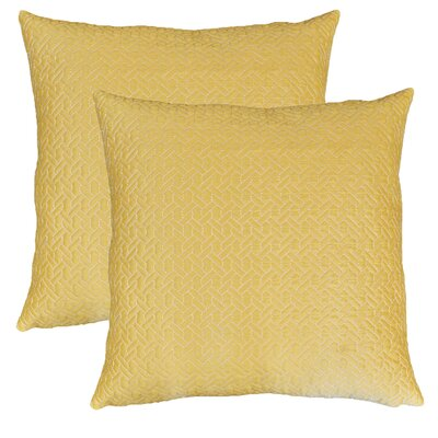 Ibarra Links Quilted Throw Pillow Color: Yarrow
