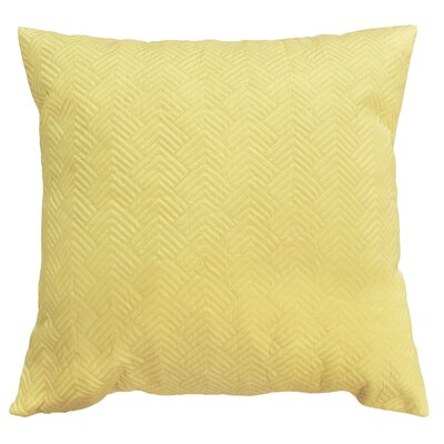 Bishopville Quilted Throw Pillow Color: Light Yellow