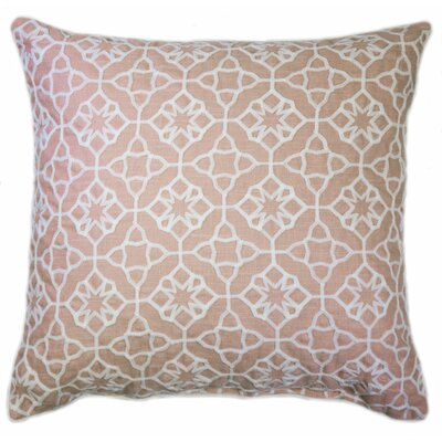 Kace Embroidered Throw Pillow Color: Coral