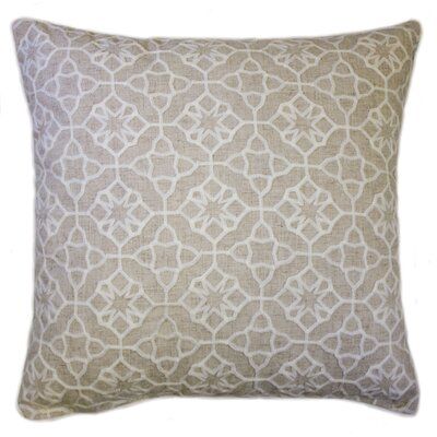 Kace Embroidered Throw Pillow Color: Natural