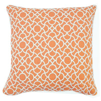 Neida Embroidered Throw Pillow Color: Coral