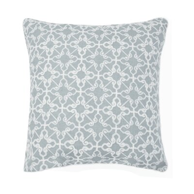 Dru Embroidered Throw Pillow Color: Gray
