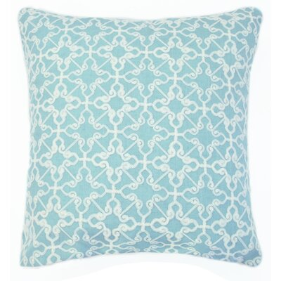 Dru Embroidered Throw Pillow Color: Sea Foam
