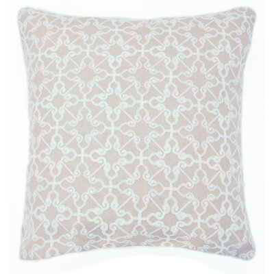 Dru Embroidered Throw Pillow Color: Natural