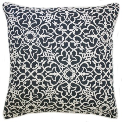 Rylie Embroidered Throw Pillow Color: Navy